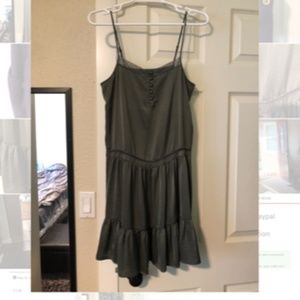 Dark Olive Pretty Detailed Dress